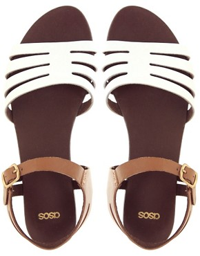 Image 2 of ASOS FIREWORK Leather Flat Sandals