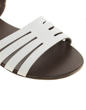 Image 4 of ASOS FIREWORK Leather Flat Sandals