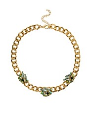 ASOS Gemstone Necklace on Curb Chain