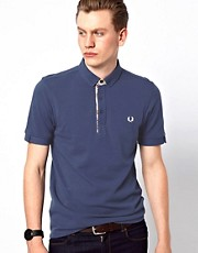 Fred Perry Polo with Madras Check Trim