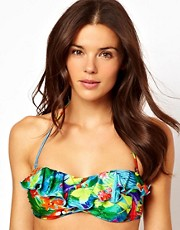 Seafolly Paradise Mini Tube Bikini Top With Frill