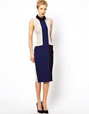 ASOS Pencil Dress In Color Block