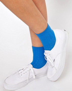 Image 1 ofASOS Ankle Sock With Dot Open Knit