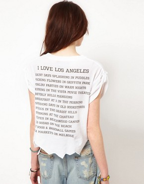 Image 2 of Wildfox White Label I Love Los Angeles Tee