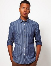 ASOS Chambray Shirt With Stripe