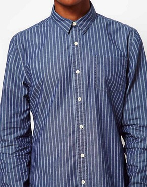 Image 3 ofASOS Chambray Shirt With Stripe