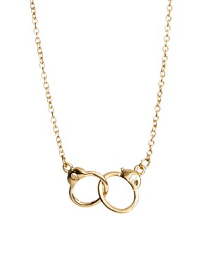 Image 1 of ASOS Handcuff Ditsy Necklace