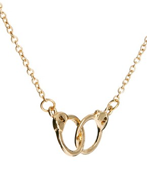 Image 4 of ASOS Handcuff Ditsy Necklace