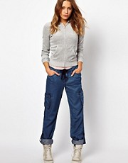Juicy Couture Tencel Denim Cargo Pants