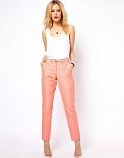 ASOS Trousers in Geo Jacquard