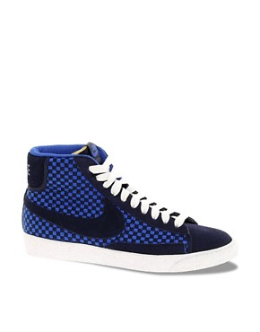 Image 1 ofNike Blazer Mid Woven Trainers