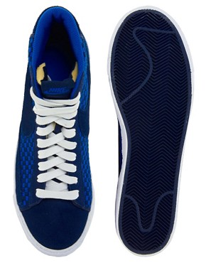 Image 3 ofNike Blazer Mid Woven Trainers