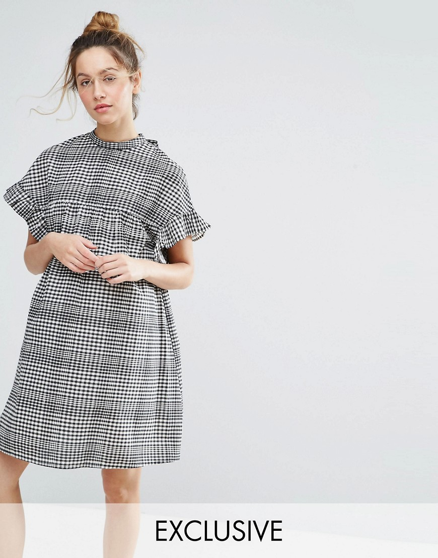 ASOS Maternity Gingham Smock Dress - Black