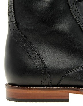 Image 2 ofASOS Brogue Boots With Leather Sole