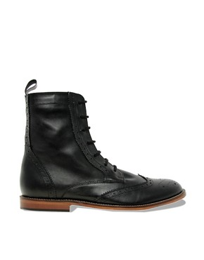 Image 4 ofASOS Brogue Boots With Leather Sole