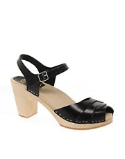 Swedish Hasbeens Peeptoe Super High Sandals