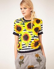 Ashish Sequin Top With Sunflower