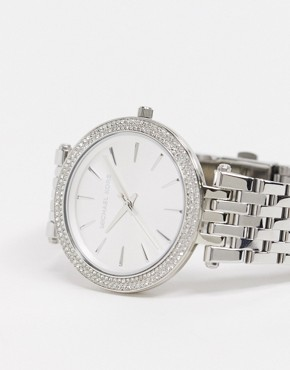 Image 2 ofMichael Kors Silver Crystal Watch