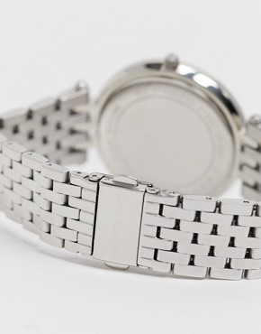 Image 4 ofMichael Kors Silver Crystal Watch