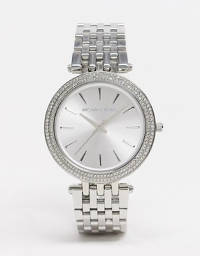 Image 1 ofMichael Kors Silver Crystal Watch