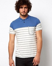 Paul Smith Jeans Polo with Half Stripe