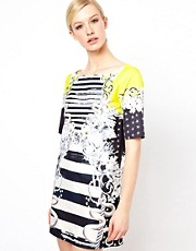 Emma Cook Shift Dress in Yellow Sailor