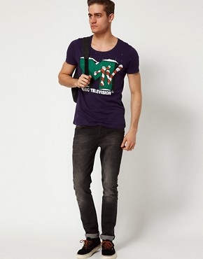 Image 4 ofASOS T-Shirt With MTV Christmas Print