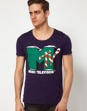 Image 1 ofASOS T-Shirt With MTV Christmas Print