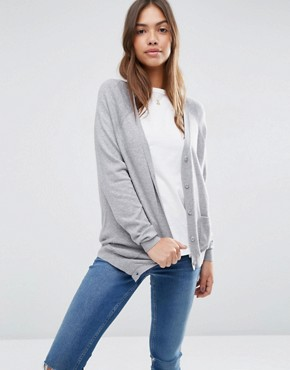 ASOS Boyfriend Cardigan in Cashmere Mix