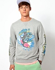 Sudadera con estampado de tiburn de ASOS