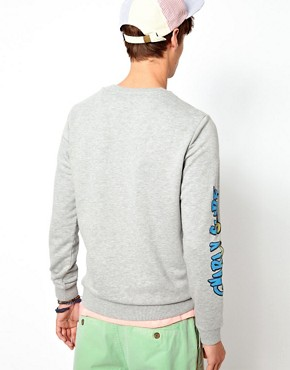 Image 2 ofASOS Sweatshirt With Shark Print