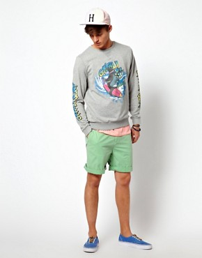 Image 4 ofASOS Sweatshirt With Shark Print