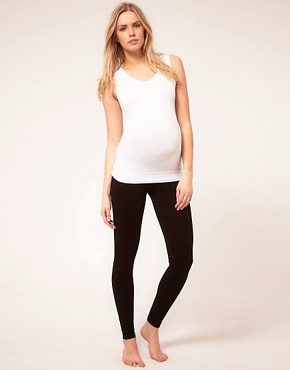 Image 4 ofASOS Maternity Exclusive Seamfree Vest with Support For The Perfect Bump