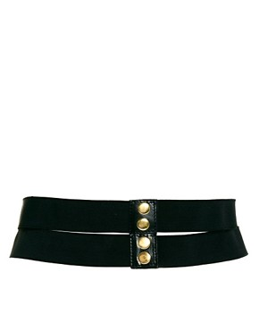 Image 3 ofASOS Wide Twist Plate And Elastic Belt