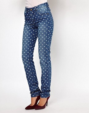 Image 1 ofOnly Polka Dot Skinny Jean