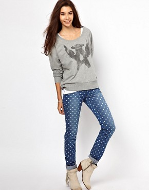 Image 4 ofOnly Polka Dot Skinny Jean