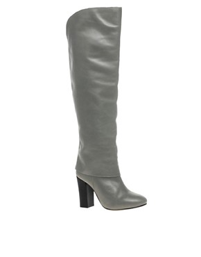 Image 1 ofASOS CHARLIZE Leather Knee High Boots