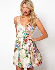 Love Dress In Lace and Floral Print