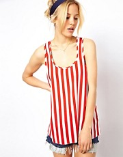 ASOS Vest In Stripe Print