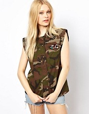 River Island Embellished Camo Shirt