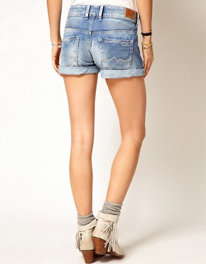 Image 2 ofPepe Jeans Roll Up Hem Denim Shorts