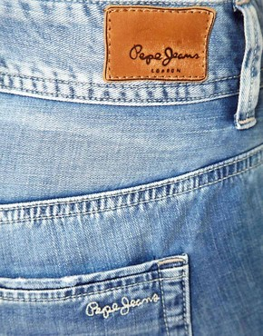 Image 3 ofPepe Jeans Roll Up Hem Denim Shorts