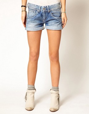 Image 4 ofPepe Jeans Roll Up Hem Denim Shorts