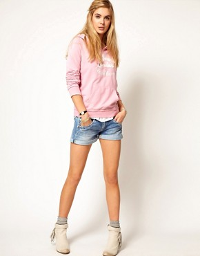 Image 1 ofPepe Jeans Roll Up Hem Denim Shorts