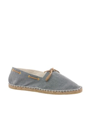 Image 1 ofASOS Espadrilles With Tie Front