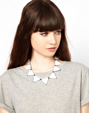 Image 1 ofASOS Triangle Collar Necklace