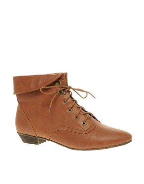 Image 1 ofASOS ARIBA Cuff Lace Up Ankle Boot