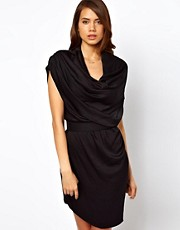 Halston Heritage Draped Neck Dress