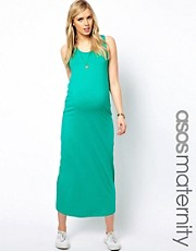 ASOS Maternity Exclusive Vest Maxi Dress In Stretch Fabric