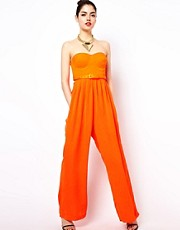 Aqua Jagger Jumpsuit With Bodice Top